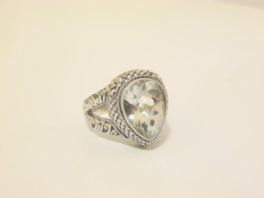 Other Bali Designs 8.07ct Pear-Cut White Topaz 2-Tone Ring Size 8 Image 7