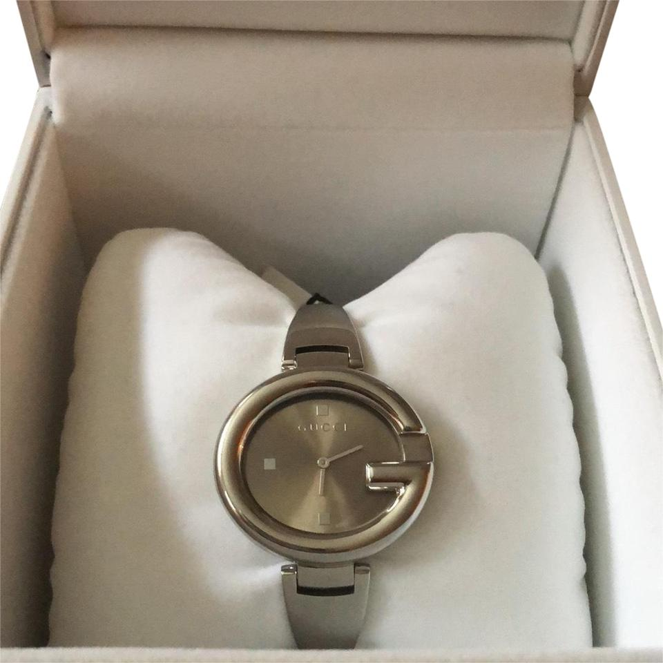 gallery lyst watches bangle watch bracelet metallic in silver product accessories dkny