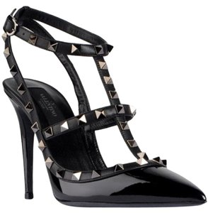 Valentino Chanel Versace Studs Studded Black Pumps