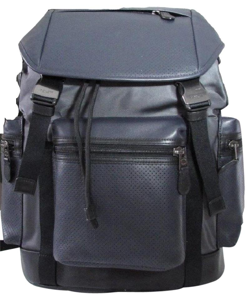 Coach Great For Travel School Or Hiking Gray Leather and Nylon ...