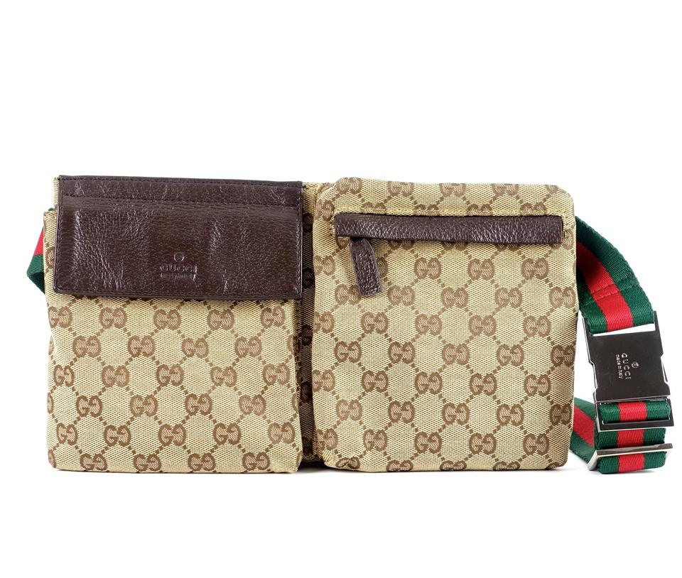 912fedeba790 Gucci Canvas and Leather Gg Belt Bag Bag/Designer Wallet - Tradesy