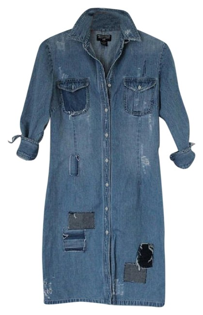 Preload https://img-static.tradesy.com/item/22836451/polo-ralph-lauren-denim-rare-jean-co-vintage-patchwork-distressed-mid-length-short-casual-dress-size-0-2-650-650.jpg