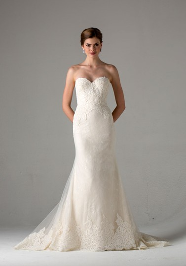 Anne Barge Off White Lace Avalon On 2017 Modern Wedding Dress Size 4 (S) Image 2