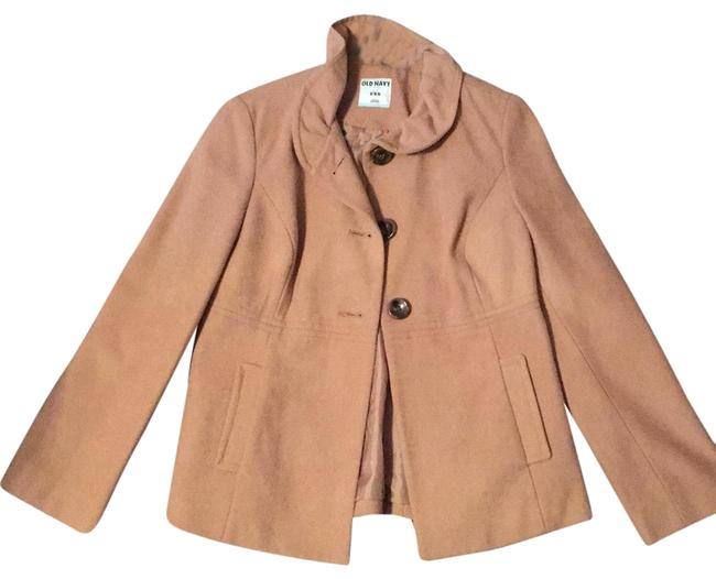 Item - Camel Never Worn with Ruffled Collar Coat Size 8 (M)