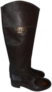 Tory Burch Designer New W/Box Knee High Equestrian Style brown Boots