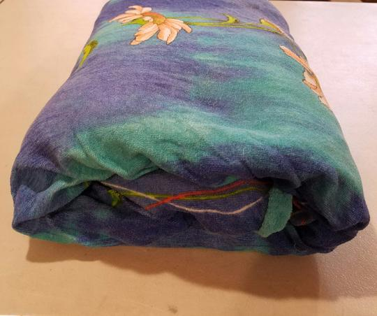 Blue 4 Piece Set Quilt Two Pillow Shams Fitted Sheet Size Full Other Image 5