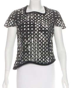 3.1 Phillip Lim Asymmetrical Structured Architectural Top Black