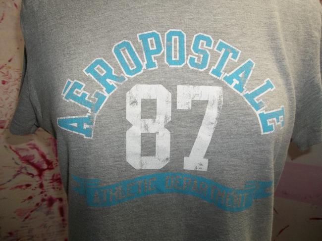 Aéropostale Cotton Short Sleeve Soft Rounded Collar T Shirt Heather Gray