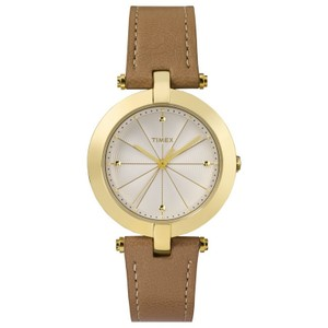 Timex TW2P79500 Women's Brown Leather Band With Silver Analog Dial Watch