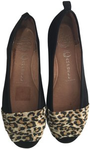 Jeffrey Campbell Comfortable Suede Leopard Animal Print Flats