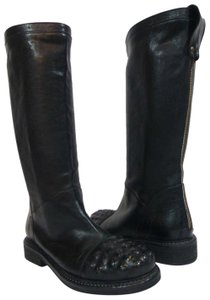 Latitude Equestrian Made In Italy Black Boots