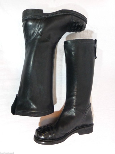 Latitude Equestrian Made In Italy Black Boots Image 3