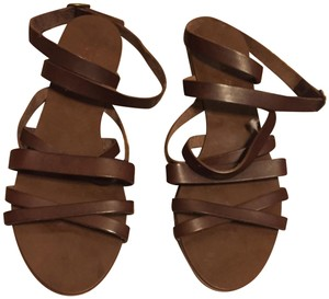 J.Crew Gladiator Ankle Wrap brown Sandals