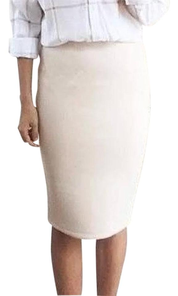 5f84c4bf5a J.Crew Ivory No 2 Pencil Double Serge Wool Lined Skirt Size 16 (XL ...