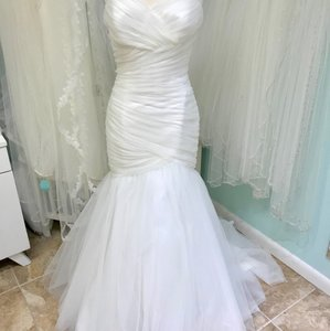 Mori Lee Ivory Tulle 5108 Feminine Wedding Dress Size 14 (L)