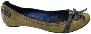 Kate by Ferrari Ballet Burlap Made In Italy Boutique Tan Flats