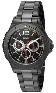 Timex TW2P87700 Men Black Stainless Steel Band With Black Analog Dial Watch