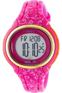 Timex TW5M03000 Ironman Women's Pink Silicone Band With Grey Digital Dial