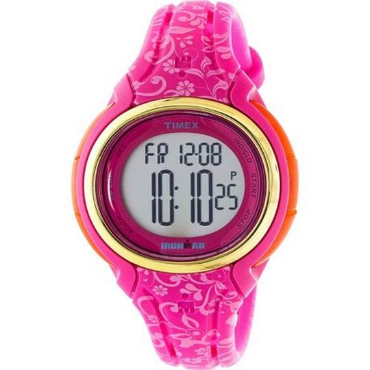 Timex TW5M03000 Ironman Women's Pink Silicone Band With Grey Digital Dial Image 1