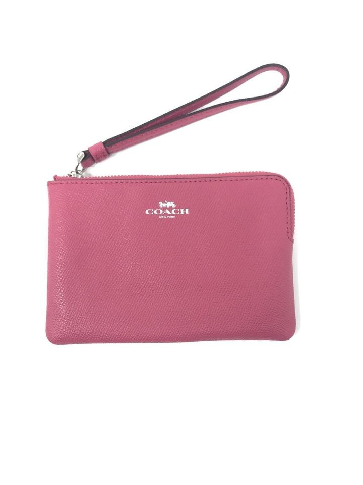 check out 9874d 77a71 Coach Magenta Pink Corner Zip Wristlet Wallet Phone Case Tech Accessory 46%  off retail