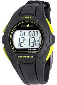 Timex TW5K93800 Ironman Men's Black Resin Band With Grey Digital Dial