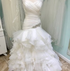 Mori Lee Ivory 1856 Feminine Wedding Dress Size 16 (XL, Plus 0x)