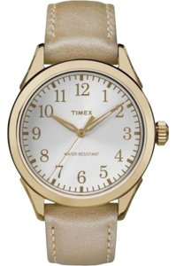 Timex TW2P99300 Briarwood Women's Champagne Leather Band With Silver Dial