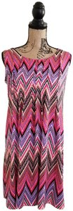Multi, pink, white, blk, purple, brown Maxi Dress by Ronni Nicole