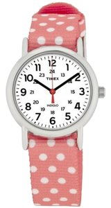 Timex TW2P65600 Weekender Women's Pink Nylon Band With White Analog Dial