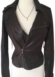 Ever Zippers Vintage Leather Motorcycle Jacket