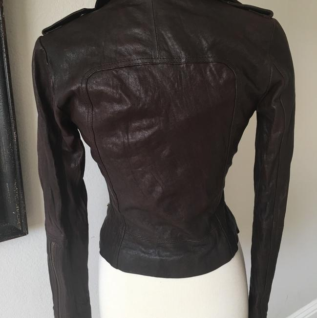 Ever Zippers Vintage Leather Motorcycle Jacket Image 1