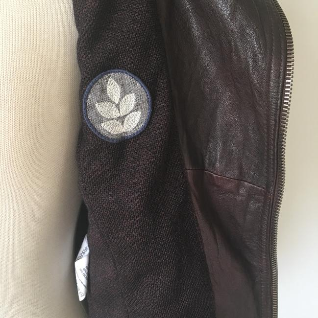 Ever Zippers Vintage Leather Motorcycle Jacket Image 7