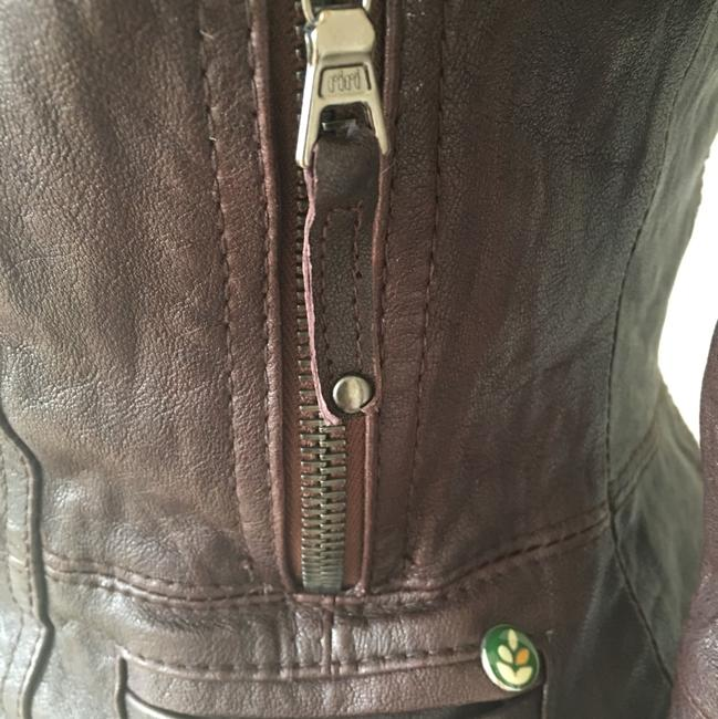 Ever Zippers Vintage Leather Motorcycle Jacket Image 9