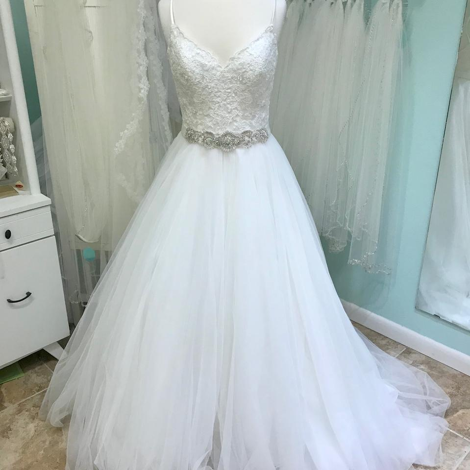 Mori Lee Ivory Lace And Tulle 5416 Traditional Wedding Dress Size 14 L