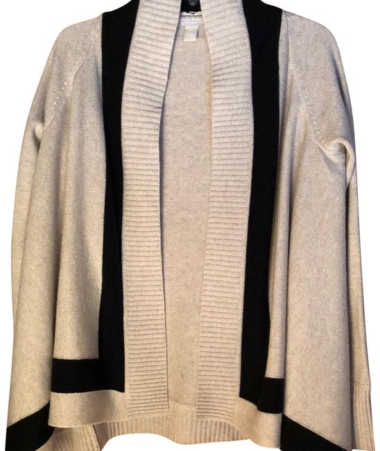 Preload https://img-static.tradesy.com/item/22837773/banana-republic-creamblack-open-front-sweater-cardigan-size-8-m-0-2-650-650.jpg