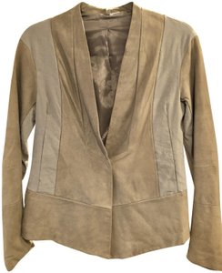 Transit par-such grey and taupe Leather Jacket