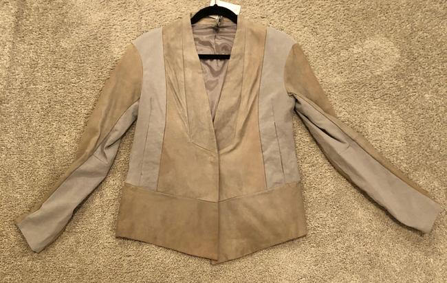 Transit par-such grey and taupe Leather Jacket Image 1