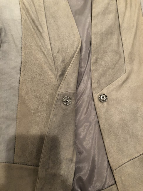 Transit par-such grey and taupe Leather Jacket Image 2