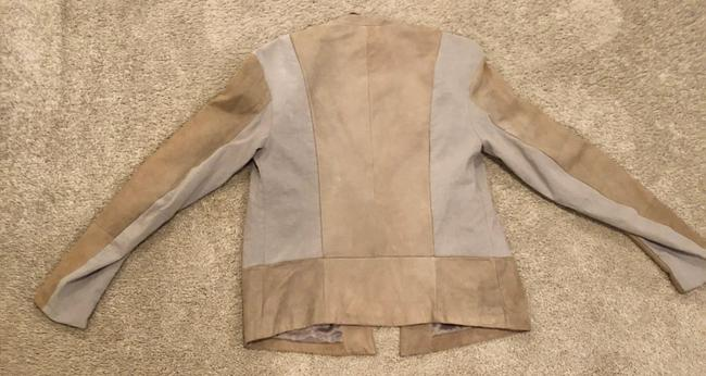 Transit par-such grey and taupe Leather Jacket Image 3