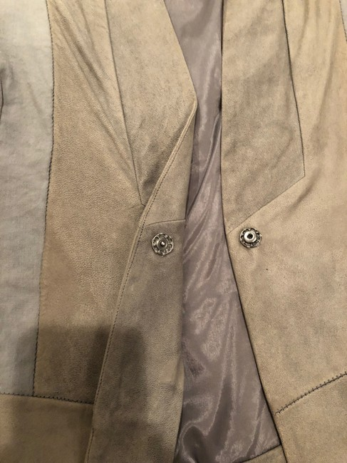 Transit par-such grey and taupe Leather Jacket Image 4