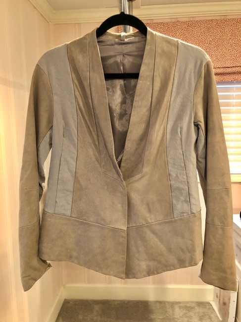 Transit par-such grey and taupe Leather Jacket Image 7