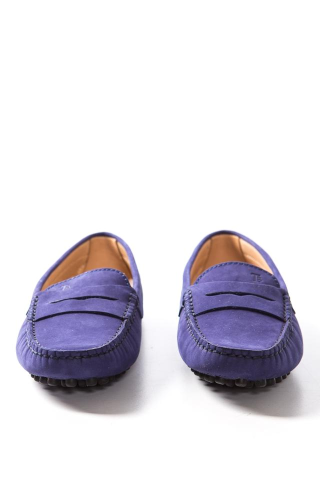 fb3c895ef2a Tod's Blue Suede Leather Rubber Sole Loafers Mules/Slides Size EU 35 ...