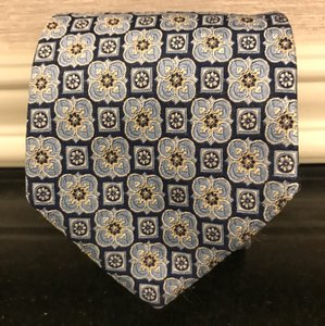 Hugo Boss Blue/Gray/Yellow Quality Tie/Bowtie
