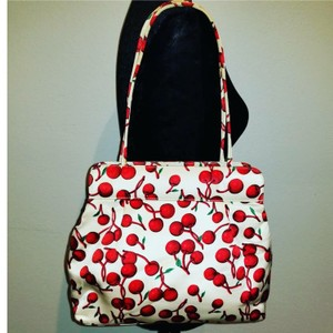 Isabella Fiore Tote in Red and White Cherries