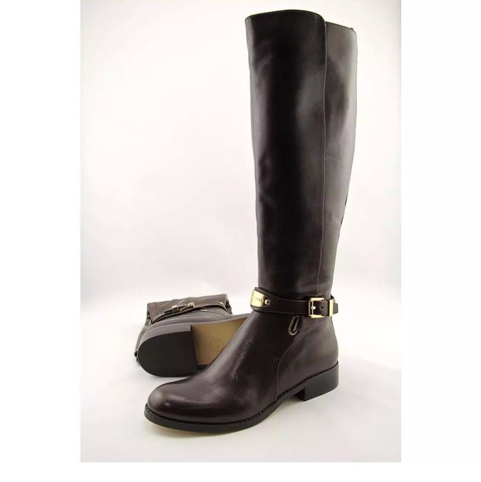 9b88501a2ae5 Michael Kors Brown Arley Riding Boots Booties Size US 5 Regular (M ...