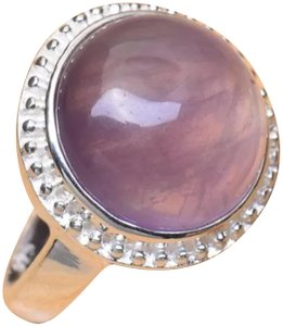 Other New 925 Silver Natural Amethyst Ring Sz 4.75