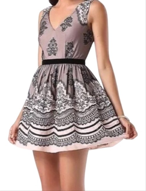Preload https://img-static.tradesy.com/item/22838647/bebe-blacknude-embroidered-fit-and-flare-short-night-out-dress-size-2-xs-0-3-650-650.jpg