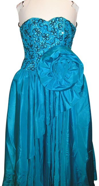 Just Female Ball Gown Dance Sequin Vintage Strapless Dress Image 0