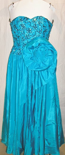 Just Female Ball Gown Dance Sequin Vintage Strapless Dress Image 3