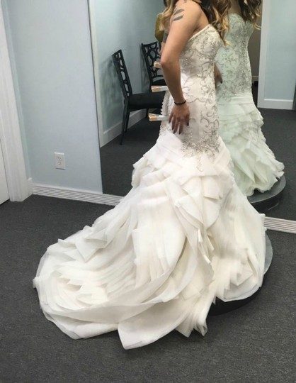 Maggie Sottero Ivory Beaded and Embroidered Bridal Gown Formal Wedding Dress Size 8 (M) Image 3